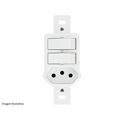 2 Interruptores Paralelos E Tomada Duale - Iriel