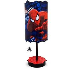 Abajur em Polipropileno Kids Spider-Man com Pingente Vermelho E Azul