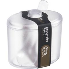 Açucareiro de Plástico Retrô Transparente - Coza