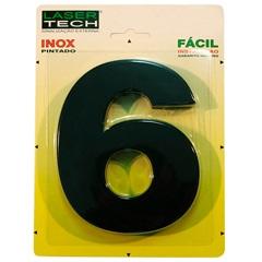 Alagarismo Número 6 Inox Preto 15cm - Display Show