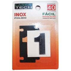 Algarismo Adesivo Número 1 em Inox Polido 4 Cm - Display Show