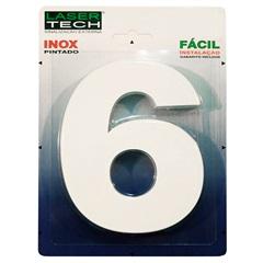 Algarismo Número 6 em Inox Branco 15 Cm - Display Show