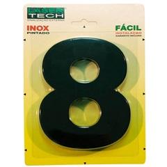 Algarismo Número 8 Inox Preto 15cm - Display Show