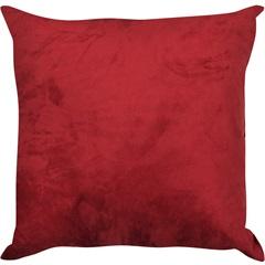 Almofada Lisa Suede Red Ruby 45x45cm