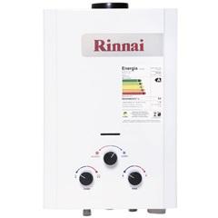 Aquecedor de Água a Gás Analógico 7,5 Litros Gn Branco - Rinnai
