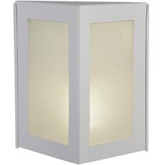 Arandela de Alumínio Triangular Pequena Bolt Branca - Ideal Iluminação