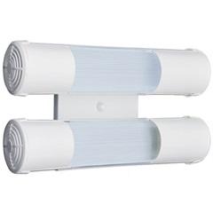 Arandela de Sobrepor para 2 Lâmpadas Mini Tubular 15x28cm Branco - Tualux