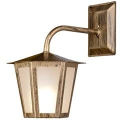 Arandela em Aço para 1 Lâmpada Colonial 30x19cm Ouro Velho - Ideal Iluminação