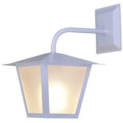 Arandela em Aço para 1 Lâmpada Colonial 32x20cm Branca - Ideal Iluminação