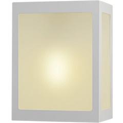 Arandela em Alumínio com Vidro Bolt 20,5x18cm Branca - Ideal Iluminação