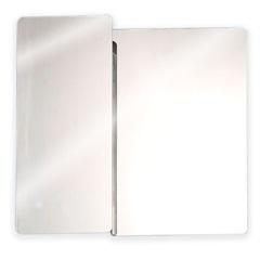 Armário em Aço Inox com Espelho Prata 53x50cm Ref. Pr500 - H. Chebli
