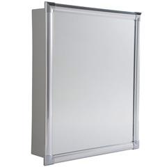 Armário para Banheiro de Embutir E Sobrepor 47x38cm Cinza