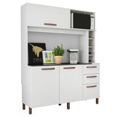 Armário para Cozinha em Mdp com Adega Vertical Avelã 180x142cm Branco Albatroz - Albatroz