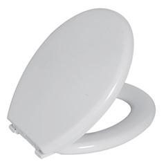 Assento Sanitário Almofadado Oval Branco - Astra