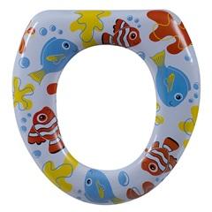 Assento Sanitário Almofadado Oval Infantil Peixe - Astra