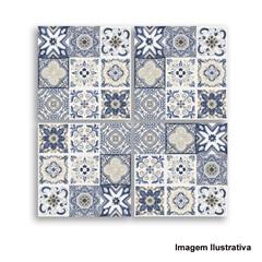 Azulejo Português Mosaico Bianco Yellow