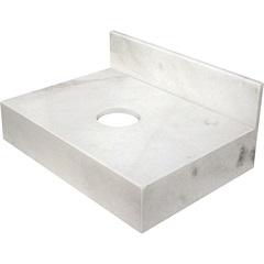 Bancada de Mármore para Banheiro 60x44cm Branca - Venturini