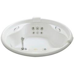Banheira Redonda com Aquecedor 6 Jatos Paola P2 150x150cm Branca - Jacuzzi