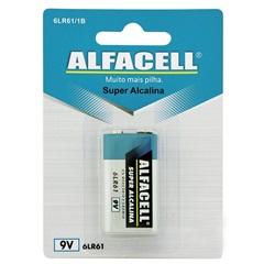 Bateria Alcalina 9v 1 Unidade - Alfacell