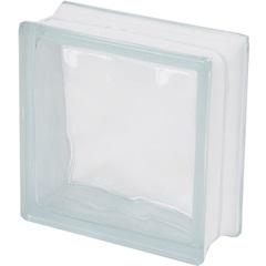 Bloco de Vidro Transparente Ondulado Sky 19x19x8cm