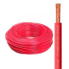 Cabo Flexível 4,0mm com 100 Metros Vermelho - Cobrecom
