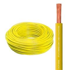 Cabo Flexível 6,0mm com 100 Metros Amarelo - Cobrecom