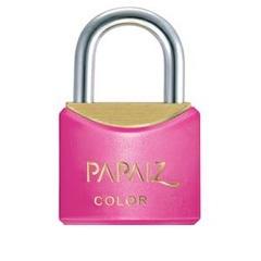 Cadeado em Latão Color Line 20mm Rosa - Papaiz
