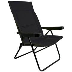 Cadeira de Praia com 4 Posições Alfa Preta - Metalurgica Mor