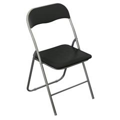 Cadeira Dobrável 79,5x44cm Preta