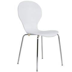Cadeira em Madeira Shell 47x51cm Branca - Casa Etna