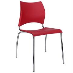 Cadeira em Polipropileno Potim Ii 48,5x56,5cm Vermelha - Casa Etna