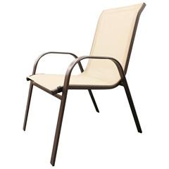 Cadeira para Jardim em Aço 92x54cm Off White - Importado