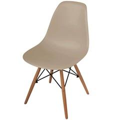 Cadeira Polipropileno com Pés de Madeira 82x47cm Cinza - Importado