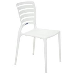 Cadeira Sofia com Encosto Vazado Branco - Tramontina