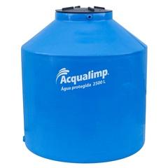 Caixa D'Água em Polietileno Água Protegida com 2500 Litros Azul - Acqualimp