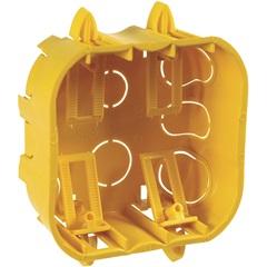 Caixa de Embutir para Drywall 4x4 Amarela - Cemar