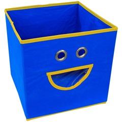 Caixa Organizadora em Tnt Smile 28x28cm Azul - Casanova