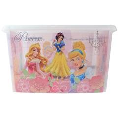 Caixa Organizadora Princesas Disney 18,7 Litros Transparente E Rosa - Plasútil