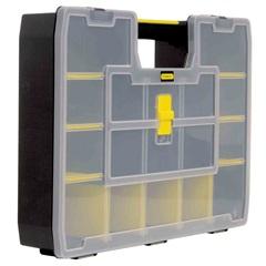 Caixa Organizadora Softmaster com 17 Divisórias Preta E Amarela - Stanley