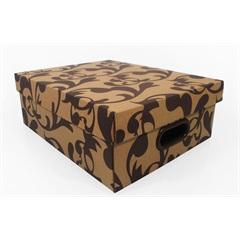 Caixa Organizadora Stok Paper Arabesco 35x28x12 Cm