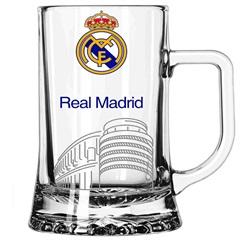 Caneca Maxim em Vidro Real Madrid 500ml Transparente - Libbey