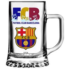 Caneca para Cerveja em Vidro Maxim Futebol Club Barcelona 500ml Transparente - Libbey