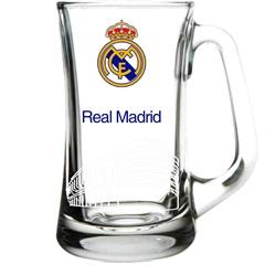 Caneca Scandin em Vidro Real Madrid 355ml Transparente - Libbey