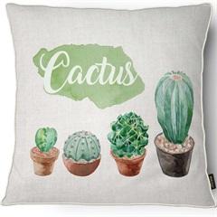 Capa para Almofada em Linho Harmony Cactus 43x43cm Bege - Casanova