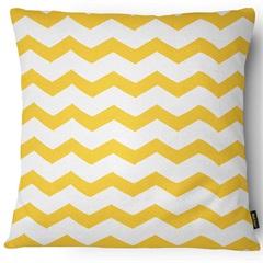 Capa para Almofada em Sarja Colors 43x43cm Amarela E Branca - Casanova