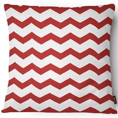 Capa para Almofada em Sarja Colors 43x43cm Branca E Vermelha - Casanova
