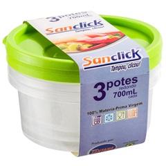 Conjunto com 2 Potes 700ml - Plásticos Santana