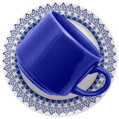 Conjunto de Chá Donna Grécia com 12 Azul E Branco - Biona
