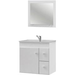 Conjunto Gabinete E Espelheira em Mdf Vitória Branco - MGM Móveis