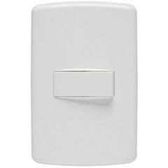 Conjunto Interruptor Simples com Placa 4x2 Duale Up Branco